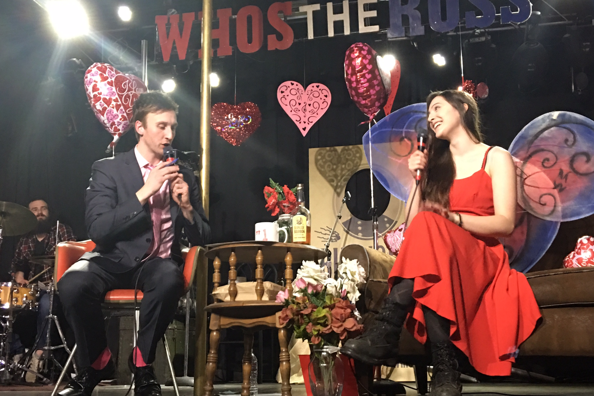 """Maiah Wynne Aaron Ross PDX Portland comedy comedian funny late-night talk show """"Who's the Ross?"""" host interview"""