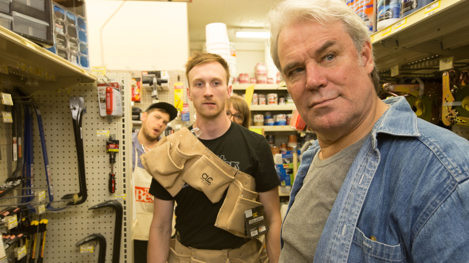 """Training Wheels comedy series funny humor live comedian Portland Aaron Ross """"who's the ross?"""" talk show web series local indie Oregon father son hardware store"""