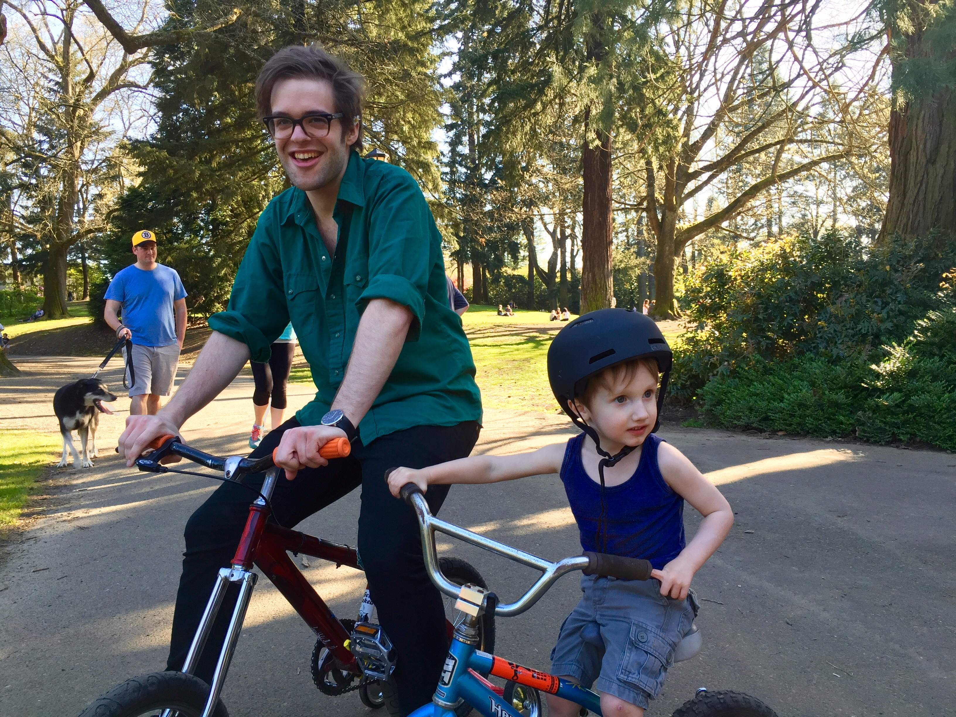 """Training Wheels bike pic PDX Portland bicycle comedy comedian talk show web series Aaron Ross """"Who's the Ross?"""""""