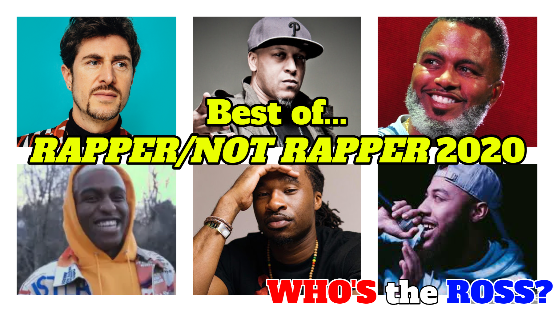 best of rapper rap hip-hop artist mc digable planets pharcyde paul white portland music game show comedy funny Who's the Ross? aaron host Paul White Bocha Rasheed Jamal Donte Thomas