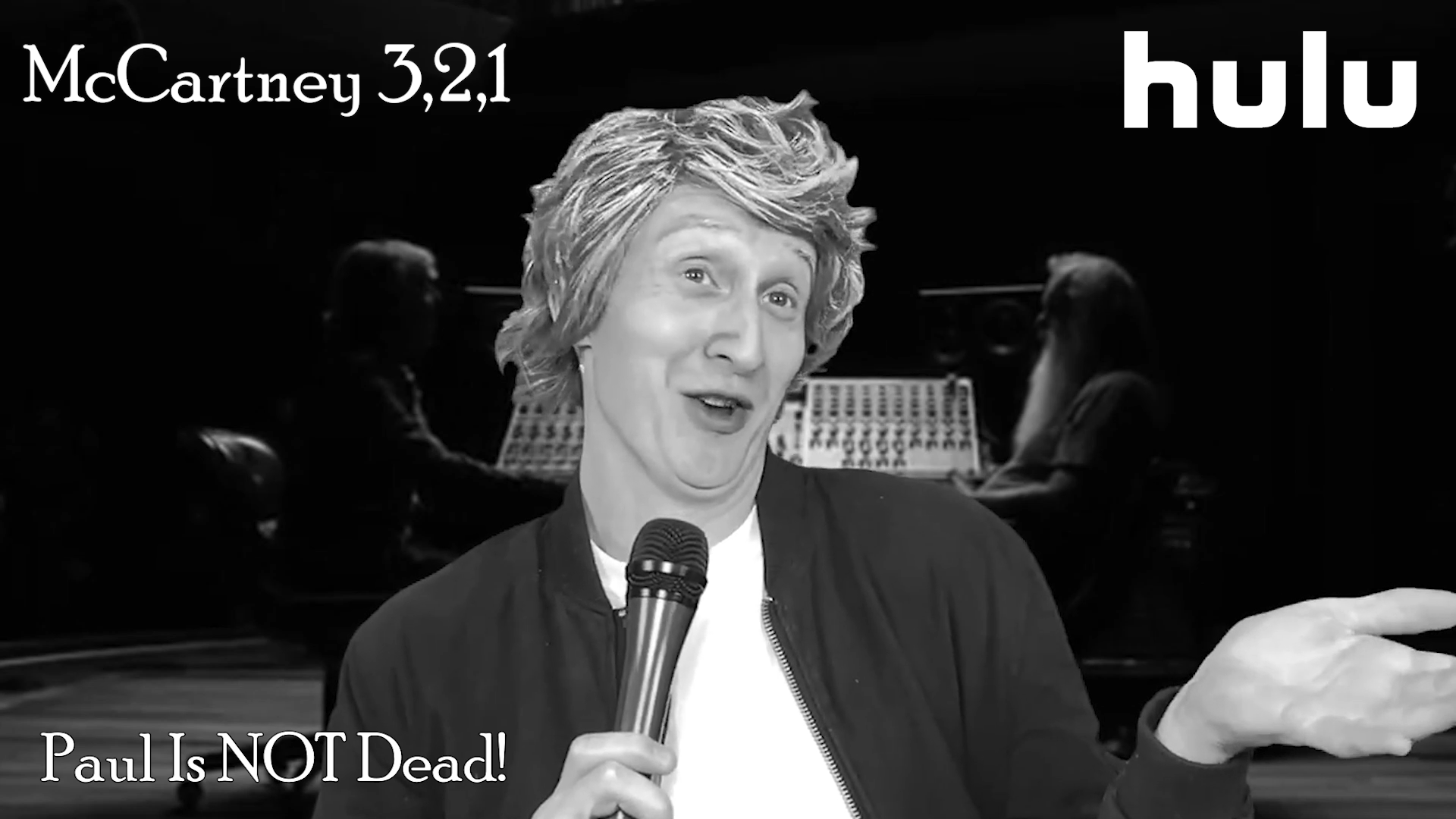 "McCartney 3,2,1 Hulu series parody spoof satire comedy comedian impression ""Paul McCartney"" Beatles music LA Los Angeles Hollywood actor talk show host Twitch"