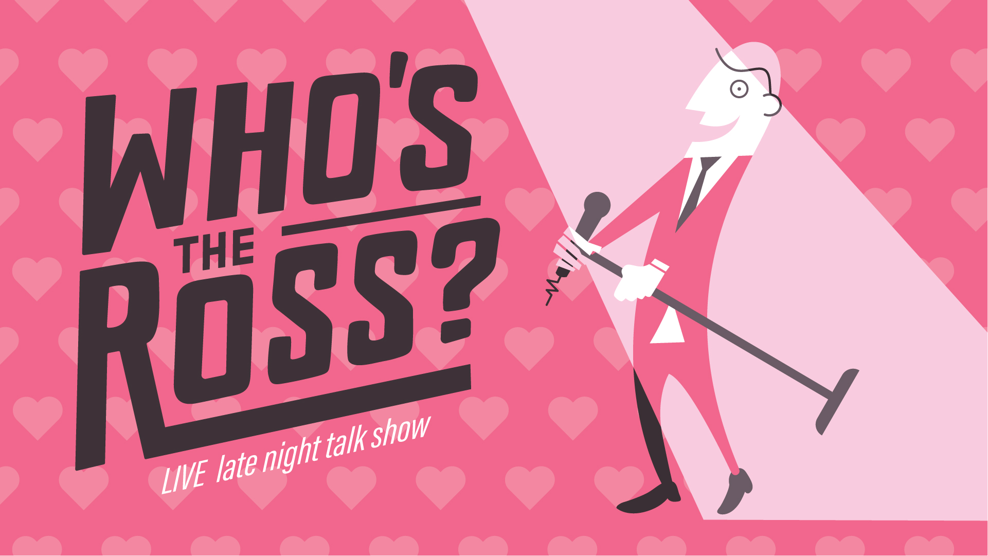 """Who's the Ross?"" Aaron Ross live El Cid Silver Lake comedy late-night talk show LA Los Angeles Hollywood host funny best Valentine's"